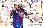 FC Barcelona's Neymar Santos Jr Rafinha Alcantara and Arda Turan during the La Liga match between Futbol Club Barcelona and Deportivo de la Coruna at Camp Nou Stadium Spain. October 15, 2016. (ALTERPHOTOS/Rodrigo Jimenez)