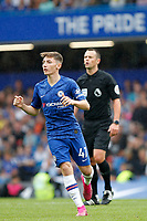 Billy Gilmour of Chelsea running during the Premier League match between Chelsea and Sheff United at Stamford Bridge, London, England on 31 August 2019. Photo by Carlton Myrie / PRiME Media Images.