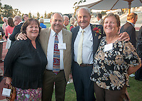 Alumni, family, staff and students at the Occidental College Athletics Hall of Fame event, part of Homecoming weekend, Oct. 24, 2014 on Patterson Field. (Photo by Marc Campos, Occidental College Photographer)
