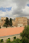 Israel, Jerusalem, a view of the Old City from Christ Church