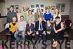 Maureen Duke, celebrating her 90th and Maurice O'Connor,  Castleisland celebrating his 80th Birthday with family and friends at the Rose Hotel on Saturday Pictured front L-r Martina Reidy, Tom O'Connor, Maureen Duke, Maurice O'Connor, Noreen O'Connor, Eileen Slamon Back l-r Denis Reidy, Conette O'Connor, Brenda Hartnett, Mary Hartnett, Paddy O'Connor, Mary Ann O'Connor and Rachel Slamon
