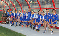 Piscataway, NJ - Saturday Aug. 27, 2016: LMSA youth team on bench prior to a regular season National Women's Soccer League (NWSL) match between Sky Blue FC and the Chicago Red Stars at Yurcak Field.