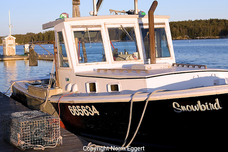 Lobster Boat Docked in Freeport, Maine