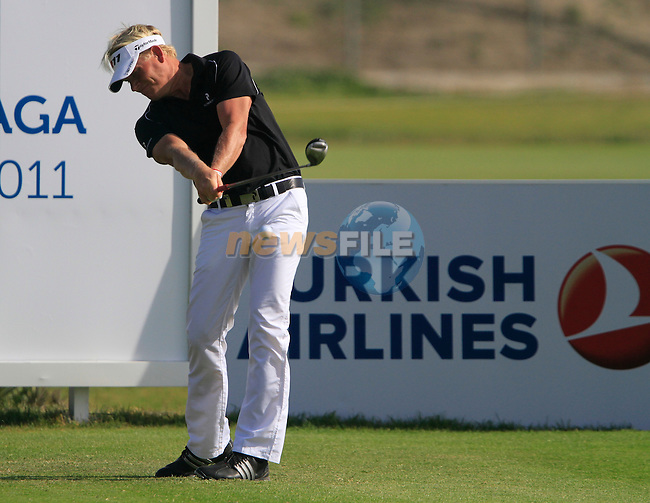 Peter Hedblom (SWE) tees off on the 17th tee during Day 3 Saturday of the Open de Andalucia de Golf at Parador Golf Club Malaga 26th March 2011. (Photo Eoin Clarke/Golffile 2011)