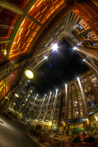 Hackescher hof shot with a fish eye