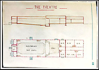 BNPS.co.uk (01202 558833)<br /> Pic:   LionHeartAutographs/BNPS<br /> <br /> A detailed plan, in pencil, of the Stalag III North Compound theatre whose auditorium could seat 360 people and had a projection room to show movies.<br /> <br /> A remarkable diary kept by a POW in the Great Escape camp which includes a tribute to the 50 men executed in its reprisals has come to light.<br /> <br /> British RAF officer Joseph Gueuffen, of 609 Squadron, was shot down during a bombing raid over Germany and held captive at Stalag Luft III from late 1943 until the end of the war.<br /> <br /> The Belgian born pilot was kept in Block 109, a barrack which played an integral part in the mass escape of prisoners on March 24, 1944.<br /> <br /> The diary boasts a list of the officers executed by the Nazis following their recapture and a drawing of the permanent memorial for them by Belgian RAF pilot Bobby Laumans.