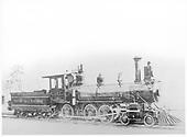 Denver Circle Railroad engine #4.<br /> Denver Circle    Taken by Larson,