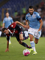 Calcio, Serie A: Lazio vs Bologna. Roma, stadio Olimpico, 22 agosto 2015.<br /> Lazio&rsquo;s Antonio Candreva in action during the Italian Serie A football match between Lazio and Bologna at Rome's Olympic stadium, 22 August 2015.<br /> UPDATE IMAGES PRESS/Isabella Bonotto