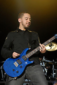 Linkin Park - rhythm guitarist Mike Shinoda performing live on Day Two on the main stage at the Download Festival 2007 held at Donington Park Leicestershire UK - 09 Jun 2007.  Photo Credit: Ben Rector/IconicPix