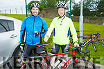 Thomas Marshall (Kanturk) and James Connor (Ballymac) at the Stephanie O'Sullivan Memorial Cycle in Milltown on Sunday morning