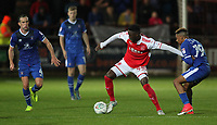 Fleetwood Town's Devante Cole competing with Carlisle United's Reggie Lambe  <br /> <br /> Photographer Andrew Kearns/CameraSport<br /> <br /> The Carabao Cup First Round - Fleetwood Town v Carlisle United Kingdom - Tuesday 8th August 2017 - Highbury Stadium - Fleetwood<br />  <br /> World Copyright &copy; 2017 CameraSport. All rights reserved. 43 Linden Ave. Countesthorpe. Leicester. England. LE8 5PG - Tel: +44 (0) 116 277 4147 - admin@camerasport.com - www.camerasport.com