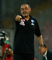 Maurizio Sarri during the friendly soccer match,between SSC Napoli and Onc Nice      at  the San  Paolo   stadium in Naples  Italy , August 02, 2016<br />  during the friendly soccer match,between SSC Napoli and Onc Nice      at  the San  Paolo   stadium in Naples  Italy , August 02, 2016
