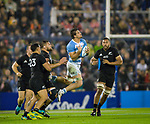 September 29, 2018. Jose Amalfitani, Buenos Aires, Argentina. Pablo Matera gets the ball in the air during the second half of the match.