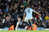 Burnley's Jack Cork under pressure from Manchester City's Ilkay Gundogan<br /> <br /> Photographer Rich Linley/CameraSport<br /> <br /> Emirates FA Cup Fourth Round - Manchester City v Burnley - Saturday 26th January 2019 - The Etihad - Manchester<br />  <br /> World Copyright © 2019 CameraSport. All rights reserved. 43 Linden Ave. Countesthorpe. Leicester. England. LE8 5PG - Tel: +44 (0) 116 277 4147 - admin@camerasport.com - www.camerasport.com