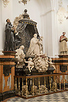 Monument to Cardinal Salazar in the Chapel of Saint Teresa, sculpture in the cathedral church, Cordoba, Spain
