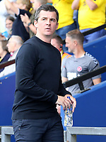 Fleetwood Town Manager Joey Barton looks on before kick off<br /> <br /> Photographer David Shipman/CameraSport<br /> <br /> The EFL Sky Bet League One - Oxford United v Fleetwood Town - Saturday August 11th 2018 - Kassam Stadium - Oxford<br /> <br /> World Copyright &copy; 2018 CameraSport. All rights reserved. 43 Linden Ave. Countesthorpe. Leicester. England. LE8 5PG - Tel: +44 (0) 116 277 4147 - admin@camerasport.com - www.camerasport.com
