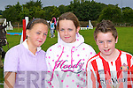 having fun at the Killorglin Pony show on Sunday was l-r: Emma Joy, Siobhain Clifford and Jamie Clifford Killorglin .