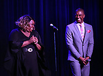 Alex Newell and Christian Dante White during the Vineyard Theatre Gala honoring Colman Domingo at the Edison Ballroom on May 06, 2019 in New York City.