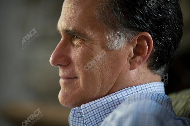 Former Gov. Mitt Romney at home, Belmont, MA, USA, October 30, 2011