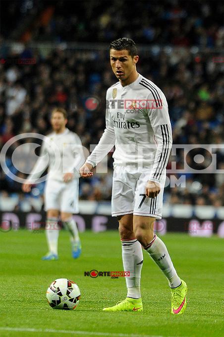 Real Madrid´s Cristiano Ronaldo during 2014-15 La Liga match between Real Madrid and Levante UD at Santiago Bernabeu stadium in Madrid, Spain. March 15, 2015. (ALTERPHOTOS/Luis Fernandez) /NORTEphoto.com