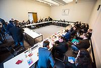 Der &bdquo;Untersuchungsausschuss Terroranschlag Breitscheidplatz&ldquo; des Deutschen Bundestag tagte am Donnerstag den 15. Maerz 2018 auf Einladung des &bdquo;Untersuchungsausschuss Terroranschlag Breitscheidplatz&ldquo; des Berliner Abgeordnetenhaus im Abgeordnetenhaus. Das Treffen der Parlamentarier diente einem Meinungs- und Informationsaustausch.<br /> Beide Untersuchungsausschuesse wollen versuchen die Hintergruende des Terroranschlages des islamistischen Terroristen Anis Amri auf den Berliner Weihnachtsmarkt am 19. Dezember 2016 aufzuklaeren. Bei dem Anschlag wurden 12 Menschen durch Amri ermordet.<br /> 15.3.2018, Berlin<br /> Copyright: Christian-Ditsch.de<br /> [Inhaltsveraendernde Manipulation des Fotos nur nach ausdruecklicher Genehmigung des Fotografen. Vereinbarungen ueber Abtretung von Persoenlichkeitsrechten/Model Release der abgebildeten Person/Personen liegen nicht vor. NO MODEL RELEASE! Nur fuer Redaktionelle Zwecke. Don't publish without copyright Christian-Ditsch.de, Veroeffentlichung nur mit Fotografennennung, sowie gegen Honorar, MwSt. und Beleg. Konto: I N G - D i B a, IBAN DE58500105175400192269, BIC INGDDEFFXXX, Kontakt: post@christian-ditsch.de<br /> Bei der Bearbeitung der Dateiinformationen darf die Urheberkennzeichnung in den EXIF- und  IPTC-Daten nicht entfernt werden, diese sind in digitalen Medien nach &sect;95c UrhG rechtlich geschuetzt. Der Urhebervermerk wird gemaess &sect;13 UrhG verlangt.]