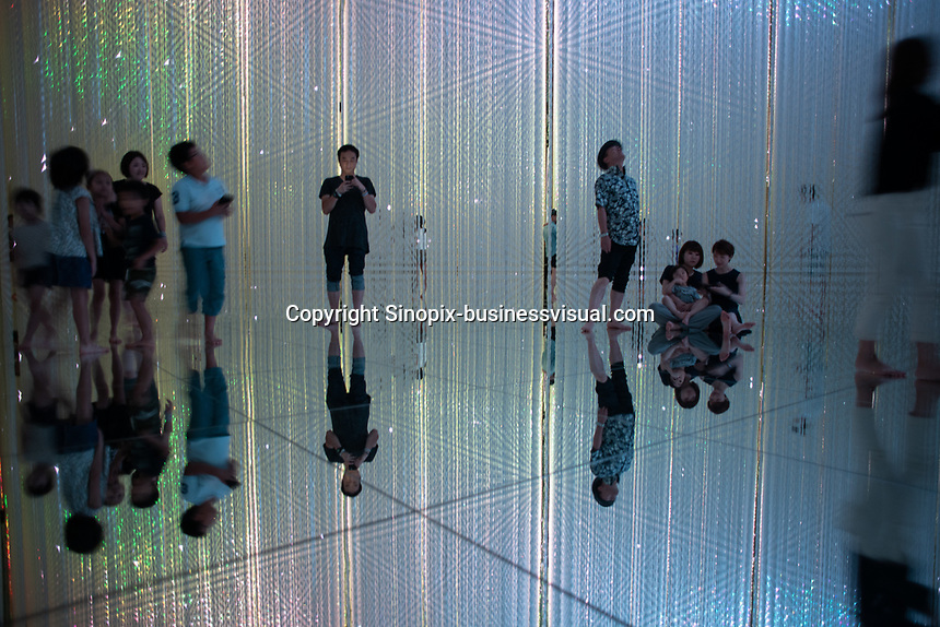 "The ""Infinity Crystal Universe"" in Team Lab Planets, Tokyo, Japan, July 2019."