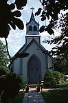 Blue church New England States, six-state region, Connecticut, Massachusetts, Rhode Island, thriving tourist industry, If you don't like the weather, wait ten minutes, Fine Art Photography by Ron Bennett, Fine Art, Fine Art photography, Art Photography, Copyright RonBennettPhotography.com ©