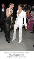 ©2001 KATHY HUTCHINS / HUTCHINS PHOTO.VANITY FAIR OSCAR PARTY.3/25/01 LOS ANGELES, CA.CHLOE SEVIGNY & ANGELINA JOLIE