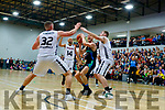 Paul Dick Garveys Tralee Warriors in action  against GS Swords Thunder at the Tralee Sports Complex on Saturday night.