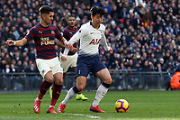Ayoze Perez of Newcastle United and Son Heung-Min of Tottenham Hotspur during Tottenham Hotspur vs Newcastle United, Premier League Football at Wembley Stadium on 2nd February 2019