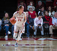 STANFORD, CA - February 22, 2019: Lacie Hull at Maples Pavilion. The Stanford Cardinal defeated the Arizona Wildcats 56-54.