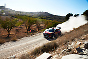 6th October 2017, Costa Daurada, Salou, Spain; FIA World Rally Championship, RallyRACC Catalunya, Spanish Rally; Khalid Al Qassimi of United Arab Emirates and his co-driver Chris Patterson of Ireland compete Citroen C3 WRC Total Abu Dhabi WRT during the Terra Alta stage