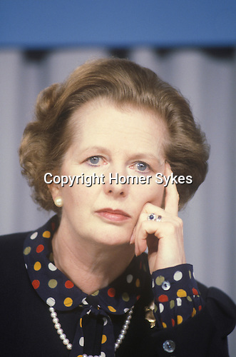 Mrs Thatcher. Conservative party election campaign 1983. Midlands UK.