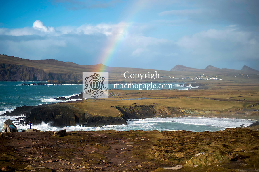 A rainbow over Clogher Strand in west Kerry 2020.<br /> Photo: Don MacMonagle