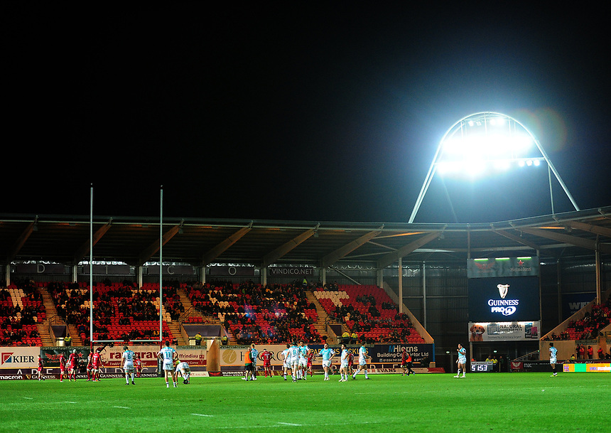 A general view of Parc Y Scarlets, home of Scarlets<br /> <br /> Photographer Ashley Crowden/CameraSport<br /> <br /> Guinness Pro14  Round 5 - Scarlets v Connacht Rugby - Friday 29th September 2017 - Parc y Scarlets - Llanelli<br /> <br /> World Copyright &copy; 2017 CameraSport. All rights reserved. 43 Linden Ave. Countesthorpe. Leicester. England. LE8 5PG - Tel: +44 (0) 116 277 4147 - admin@camerasport.com - www.camerasport.com