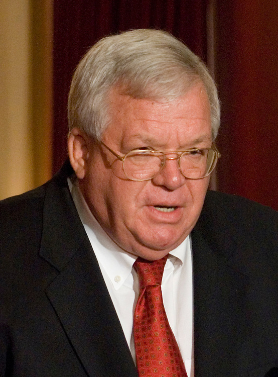 Speaker of the House Dennis Hastert, R-Ill., speaks to the media about the safety of Congressional pages on Monday October 2, 2006 in the Speaker's lobby. Rep. Mark Foley, R-Fla., resigned from Congress last week due to the revelation of his inappropriate emails and instant messages to an underage male page.