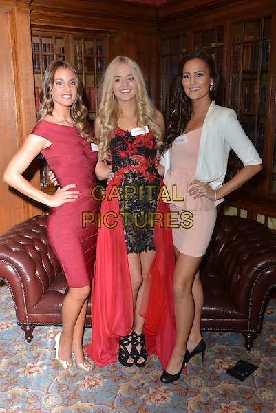 Miss Norway  Monica Olivia PEDERSEN, Miss Sweden   Olivia ASPLUND, Miss Denmark Pernille S&Oslash;RENSEN<br /> photocall for Miss World 2014 contestants in central London, on November 25, 2014. This year's Miss World contest will take place in London on December 14, 2014<br /> CAP/PL<br /> &copy;Phil Loftus/Capital Pictures