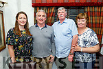 Jim Hogan from Kilkenny celebrating his birthday in Cassidys on Sunday. L to r: Jim, Eileen and Anthea Hogan and Mike Long from Tralee.