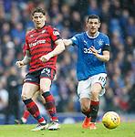 07.04.2018 Rangers v Dundee:<br /> Josh Meekings and Graham Dorrans