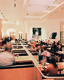 USA, California, Los Angeles, interior of CUT Restaurant during dinner service.