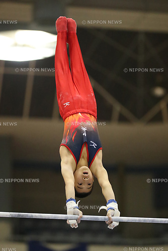 Masaharu Tanida (), <br /> AUGUST 21, 2017 - Artistic Gymnastics : <br /> 48th All Japan Junior High School Championships <br /> Men's Individual All-Around <br /> Horizontal Bar <br /> at Kitakyushu City General Gymnasium, Fukuoka, Japan. <br /> (Photo by YUTAKA/AFLO)