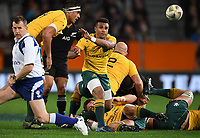 Will Genia.<br /> Bledisloe Cup and Rugby Championship test match. New Zealand All Blacks v Australian Wallabies at Forsyth Barr Stadium, Dunedin, New Zealand. Saturday 26 August 2017. © Copyright photo: Andrew Cornaga / www.Photosport.nz