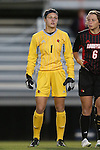 04 October 2014: Louisville's Paige Brown. The Duke University Blue Devils hosted the University of Louisville Cardinals at Koskinen Stadium in Durham, North Carolina in a 2014 NCAA Division I Women's Soccer match. The game ended in a 0-0 tie after double overtime.