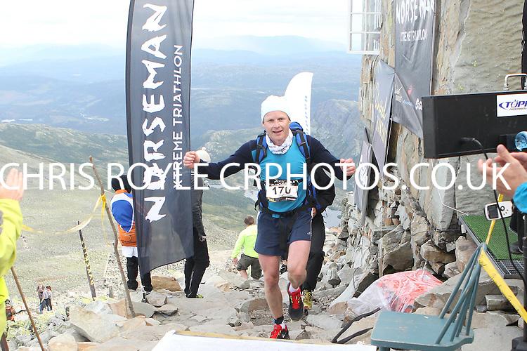 Race number 170 - Stian Hagevik  - - Sunday Norseman Xtreme Tri 2012 - Norway - photo by chris royle / boxingheaven@gmail.com