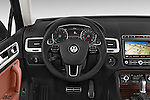 Car pictures of steering wheel view of a 2015 Volkswagen Touareg Executive 5 Door Sport Utility Vehicle Steering Wheel