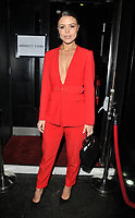 Chloe Lewis at the Abbott Lyon x Chloe Lewis Christmas Campaign launch, Vanilla London, Great Titchfield Street, London, England, UK, on Wednesday 07 November 2018.<br /> CAP/CAN<br /> &copy;CAN/Capital Pictures