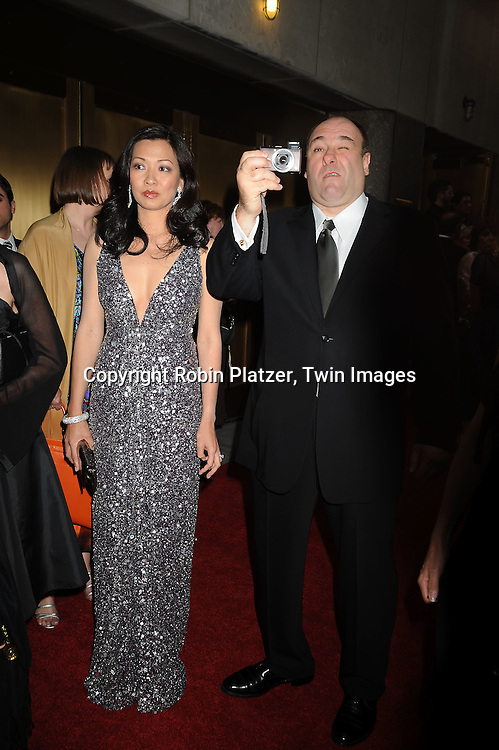 James Gandolfini and wife