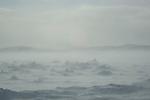blizzard sur la baie de Frobisher