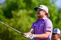 Zac Blair (USA) watches his tee shot on 18 during round 1 of the Shell Houston Open, Golf Club of Houston, Houston, Texas, USA. 3/30/2017.<br /> Picture: Golffile | Ken Murray<br /> <br /> <br /> All photo usage must carry mandatory copyright credit (&copy; Golffile | Ken Murray)