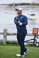 Jon Rahm (ESP) watches his tee shot on 7 during round 2 of the 2019 US Open, Pebble Beach Golf Links, Monterrey, California, USA. 6/14/2019.<br /> Picture: Golffile | Ken Murray<br /> <br /> All photo usage must carry mandatory copyright credit (© Golffile | Ken Murray)